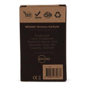 38514 - BRAINZ Bluetooth Earbuds Wheatstraw (mailbox)