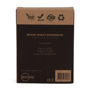 38535 - BRAINZ Powerbank 8.000mAh Wheatstraw